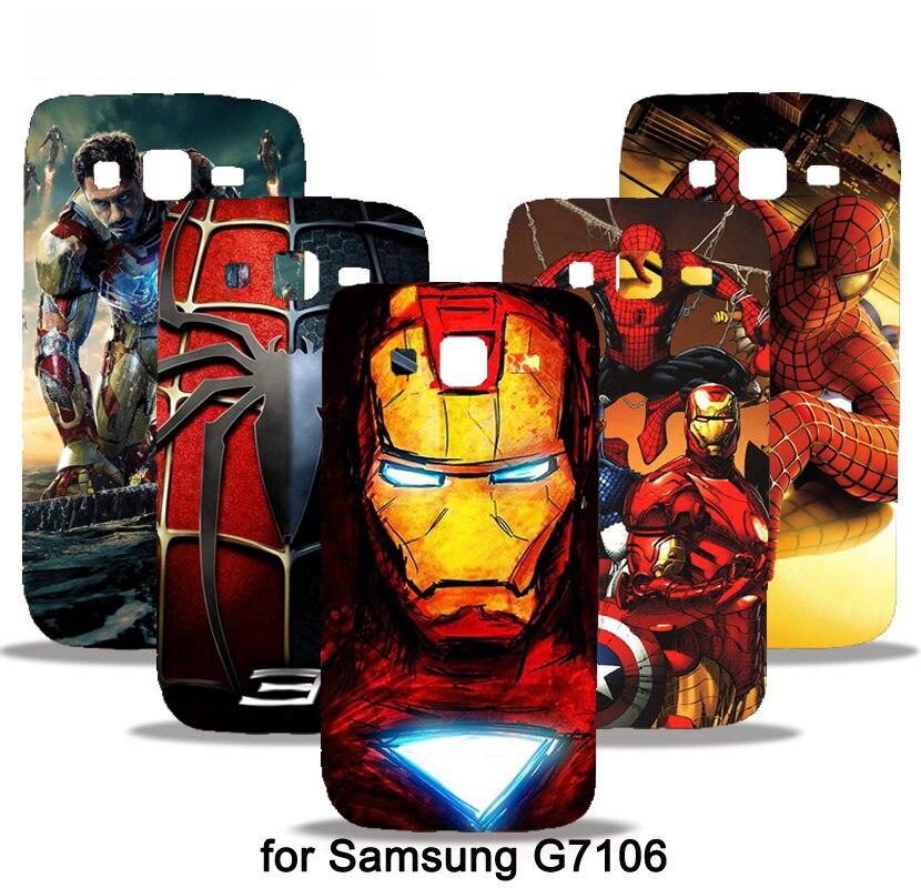 Marvel Avengers <font><b>Spider</b></font> <font><b>man</b></font> Phone <font><b>Case</b></font> Cover For <font><b>Samsung</b></font> <font><b>Galaxy</b></font> Grand <font><b>2</b></font> G7106 G7108 Capa Batman Superman S <font><b>logo</b></font> Captain America