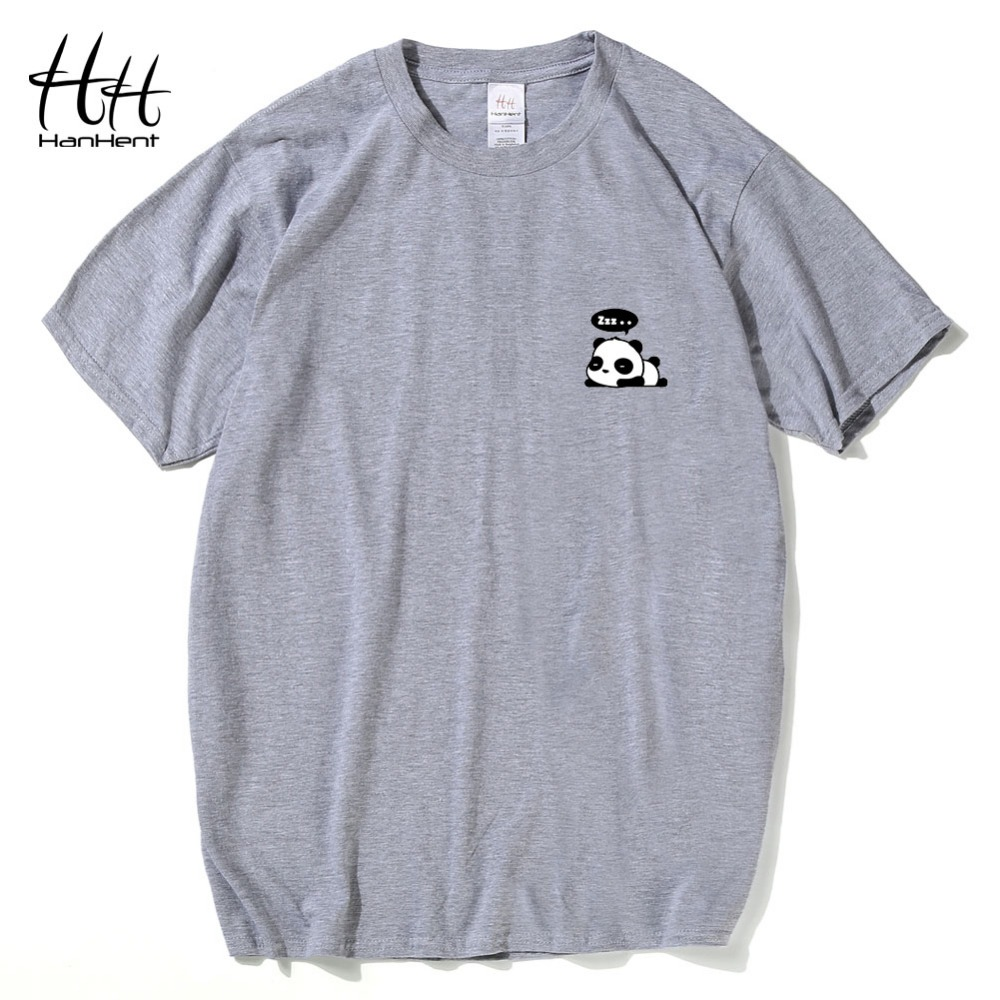 Hanhent panda t shirt men fashion 2016 cute tops summer t for Cute summer t shirts