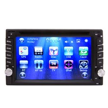 GPS Navigation 2Din HD Touch Screen in Dash Car Stereo DVD CD Player Practical Camera Alert ME3L