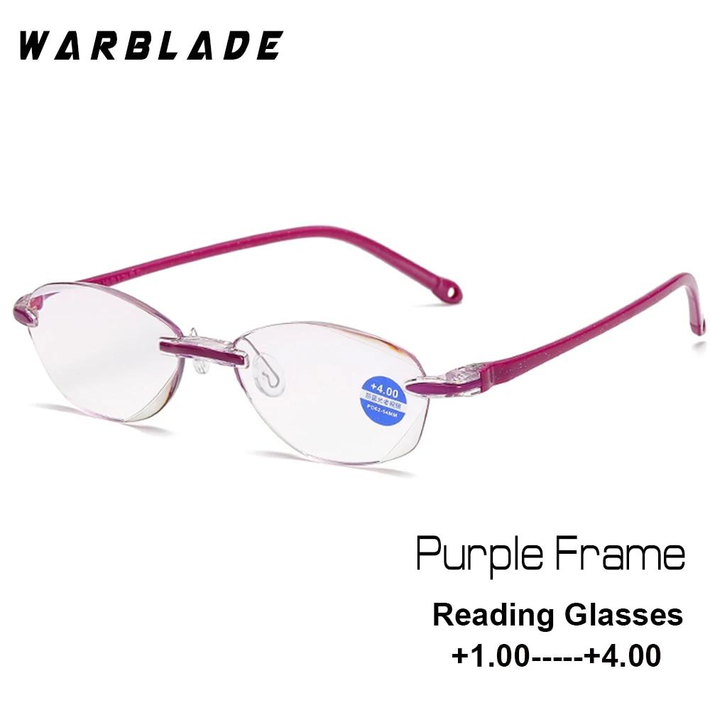 WarBLade Women's Half Metal Frame Lenses Reading Glasses Femal ...