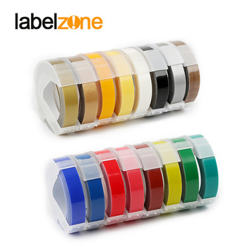 20 colors 3Rolls/lot 3D 9mm PVC Embossing Label Tape Compatible Dymo 1610 12965 Manual Label printer for Motex E101 Label Makers