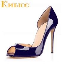 купить Kmeioo Women Shoes Peep Toe Pumps Slip On High Heels D'Orsay Stiletto Wedding Shoes Thin Heels 12CM Party Shoes Summer Women по цене 2639.18 рублей