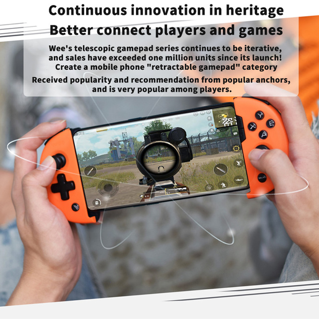 Flydigi Mobile Game Controller,  Wee 2T Somatosensory Telescopic Gamepad Plus Expander Supports Connecting Mouse And Keyboard