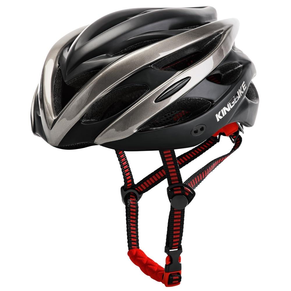 KINGBIKE NEW Cycling Helmet Road Bike Ultralight Mountain MTB In-mold Breathable Bicycle Helmet With Tail Lights Visor Helmets