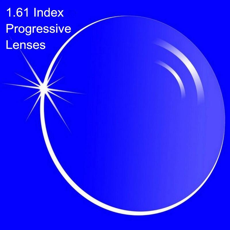 Lentilles progressives de Prescription d'index 1.61 lentilles Multi focales de forme libre sans ligne pour les lentilles progressives internes de myopie/hyperopie