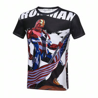 2017 Iron Man T Shirt Short Sleeves Tops Tees Casual Tshirt T Shirts 3D American Flag Independence Day Original Printing Shirts