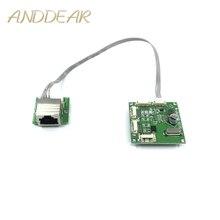 Mini disegno del modulo ethernet interruttore di circuito per modulo switch ethernet 10/100 mbps 3/4/5 porta bordo PCBA OEM Scheda Madre