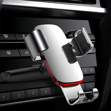 Metal Gravity Car Phone Holder Silver Car Mount CD Slot Aluminum alloy For iPhone Samsung Xiaomi Mobile Cell Phone