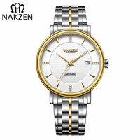 NAKZEN Men Business Wristwatch Brand Luxury Diamond Automatic Mechanical Watches Relogio Masculino Japanese movement Miyota 9015