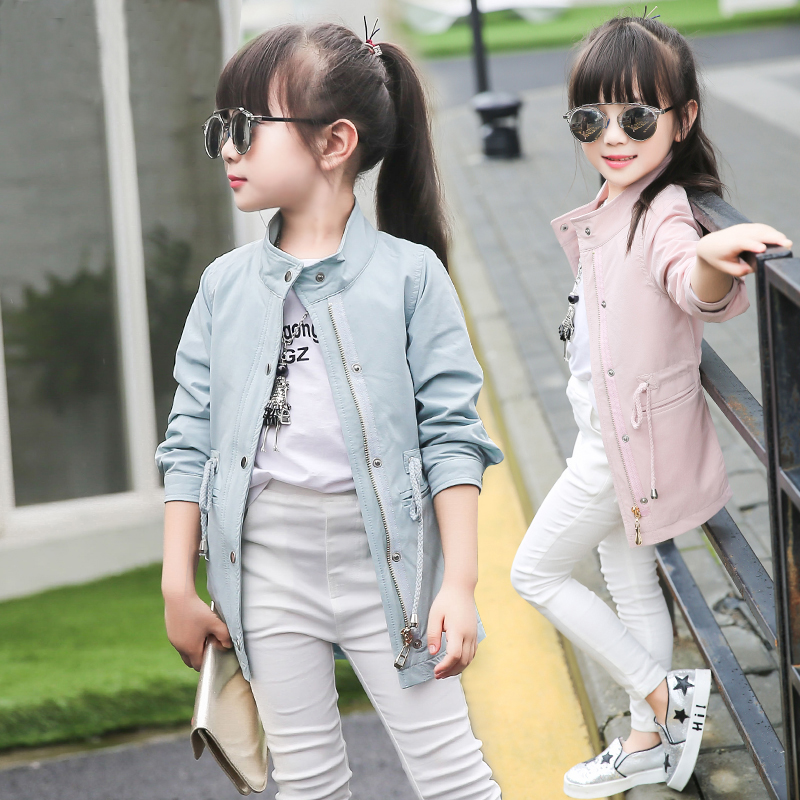 New Baby Girl Coat Good Quality Trench Coat  Children Jackets Veste Fille Enfants  Girls Jacket  6GCT121