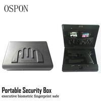 Portable Fingerprint Security Box Money Gun Digital Small Safe Box Cold rolled Steel Car Safe Box Valuables Money Jewelry Storag