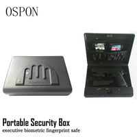 Portable Fingerprint Security Box Money Gun Digital Small Safe Box Cold rolled Steel Car Safe Box Valuables Money Jewelry Storag