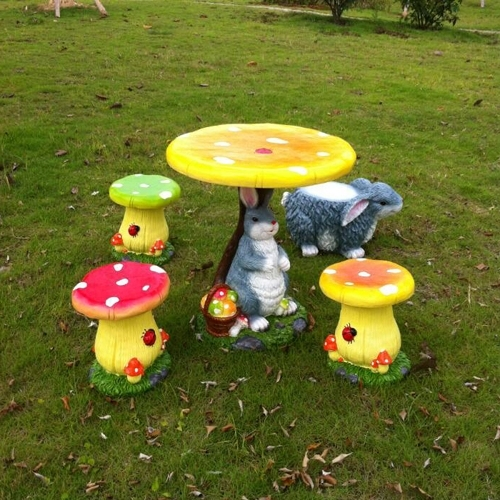 Creative cartoon animal and plant simulation outdoor furniture Children  furniture coffee table and chairs balcony garden patio f - Creative Cartoon Animal And Plant Simulation Outdoor Furniture