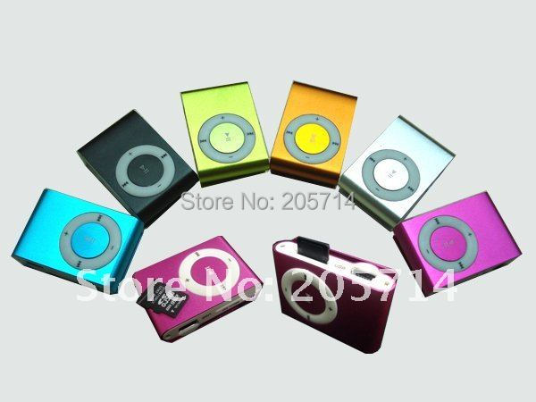 Wholesale gift free shipping Clip mp3 music player with card slot mini mp3 player & 8 color MP3001 no memory card No Earphone