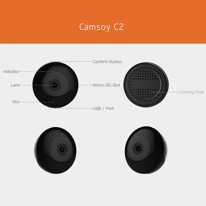 Mini câmera wifi ip com sensor de movimento 720 p mini câmera wifi hd visão noturna para iphone android vídeo segurança clipe magnético