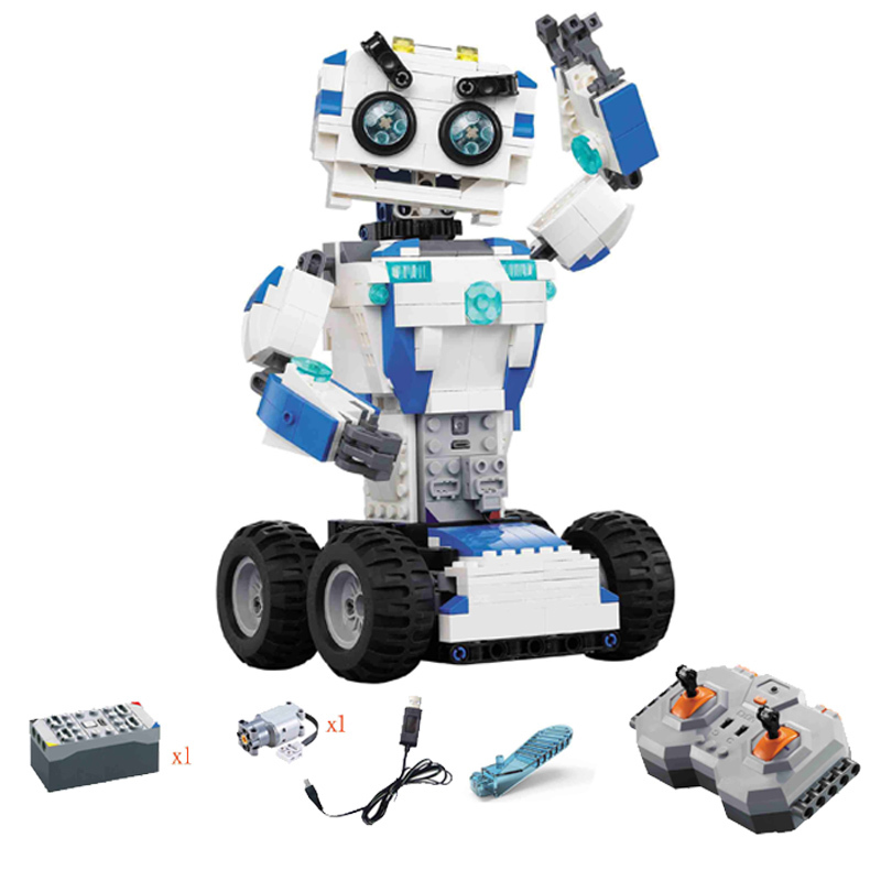 606pcs Diy The 2 In 1 Remote Control Robot Set Kids Building Blocks Compatible With Legoingly Bricks Toys For Children Gift 387pcs new ideas plants vs zombies struck game building blocks set toys compatible with legoingly gift for children action