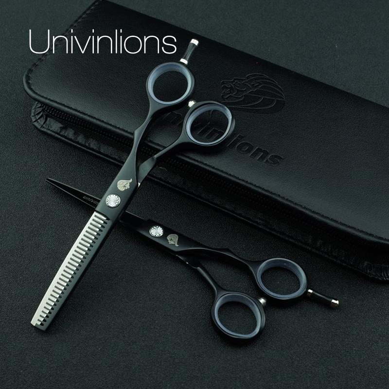 "5.5"" black teflon hair scissors razor hairdressing scissor sale professional hair dressing scissors barber clipper japan haircut 1"