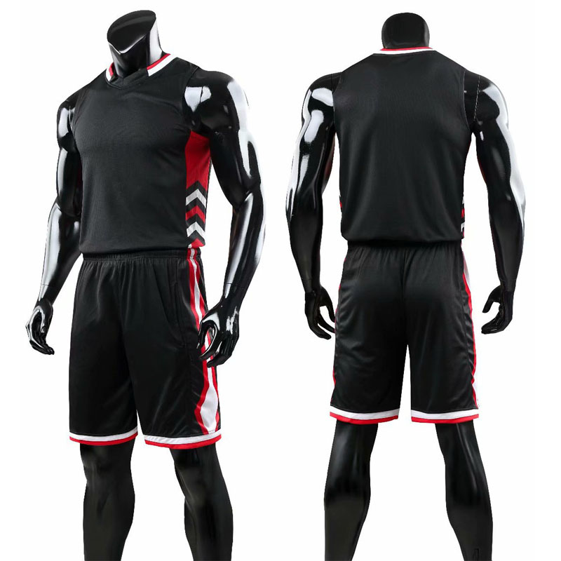 Mens Plain Running Basketball Sport Jersey Kit Uniforms Athletic Game Suits