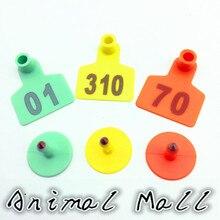 Три варианта цвета лазер со словом свиньи ушные вывески свиньи, рогатый скот, овцы идентификационный номер свиноматки ушные пластины