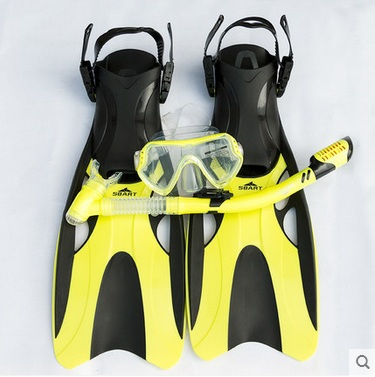 все цены на Swimming Fins Adjustable Adult Diving flippers Swimming Diving Protective Goggle Breathing Tube Snorkeling Goggles Masks