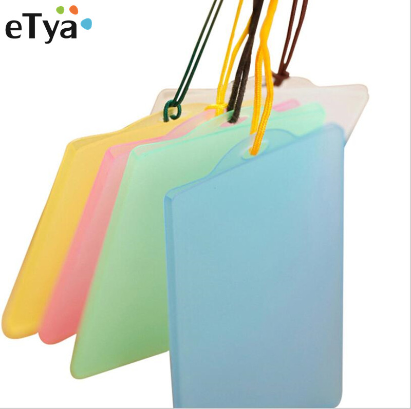 eTya Men Women Credit Card Holder Bags Pocket PVC Clear Student Bus Business Bank Cards Pack Card Cover Holder Pouch Case 2017 12 bit 2sided credit card holder waterproof plastic card sets multicolor business card pack bus card bag women purse men wa