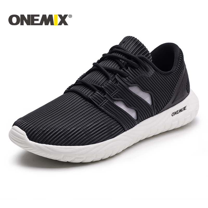ONEMIX 2018 men running shoes summer breathable mesh sneakers Unisex flexible durable EVA outsole sneakers outdoor jogging women