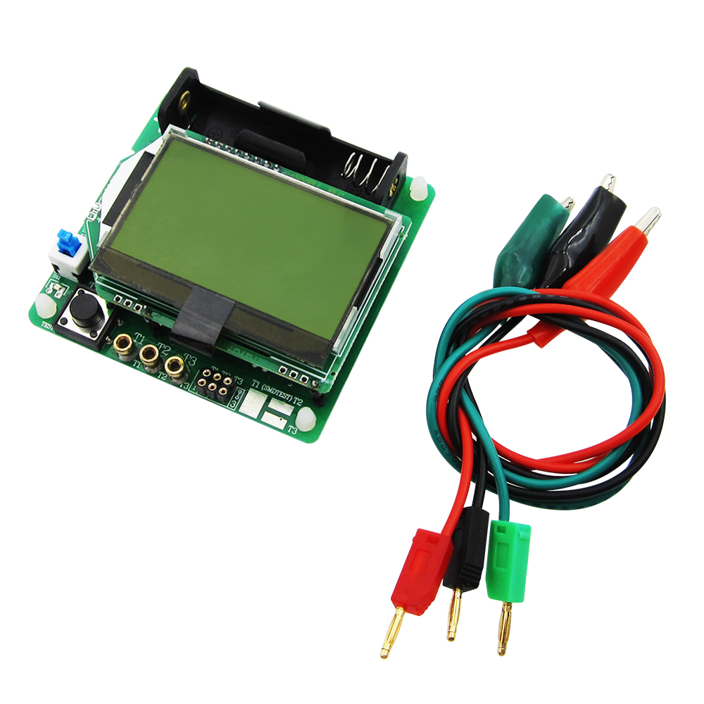Free Shipping 1set New 3 7V Version Of Inductor Capacitor ESR Meter DIY MG328 Multifunction Transistor