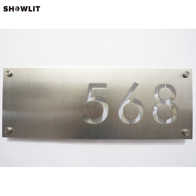 House Number Plaque Address Sign Door Number House Number Sign custom acrylic frosted house sign modern number name plaque 200x140mm home
