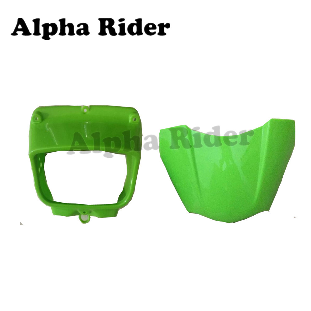 For Kawasaki KLX250 KLX 250 300 Front Headlight Cover Case Plastic Fairing Cowl Head Light Visor