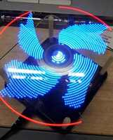 Rotating dynamic display Clock POV display Electronic DIY kits Soldering Kits DIY Brain training Toy