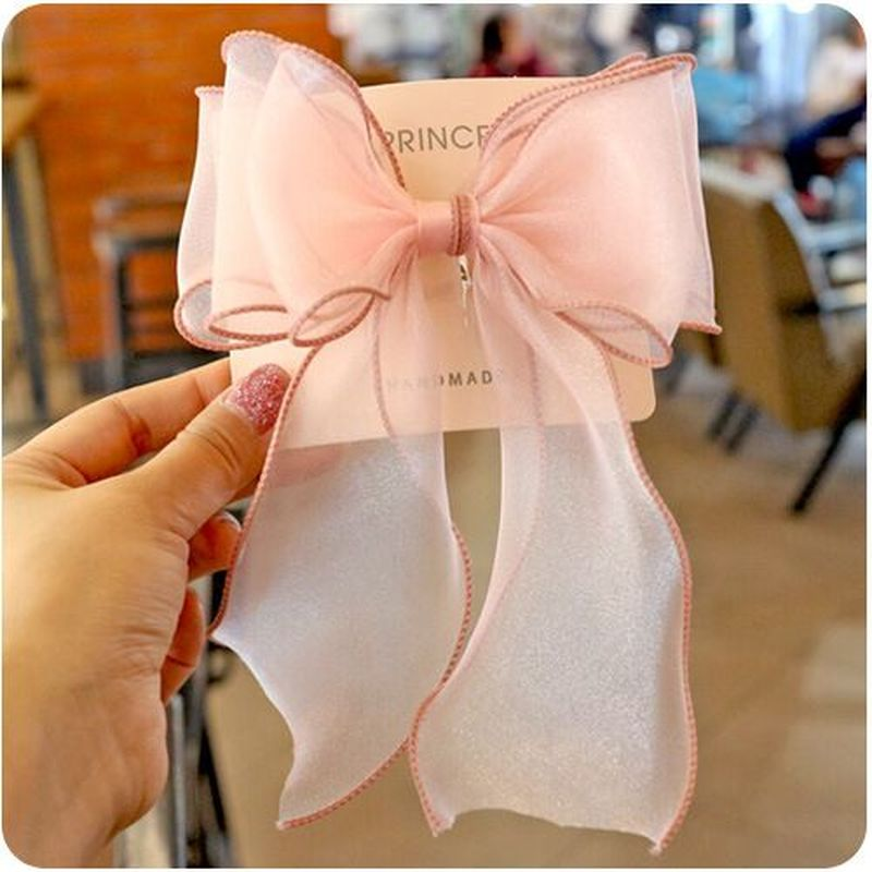 Wedding bow rabbit ears clip girl Korean hair clips for children's   headwear   accessories beauty tools new products recommended