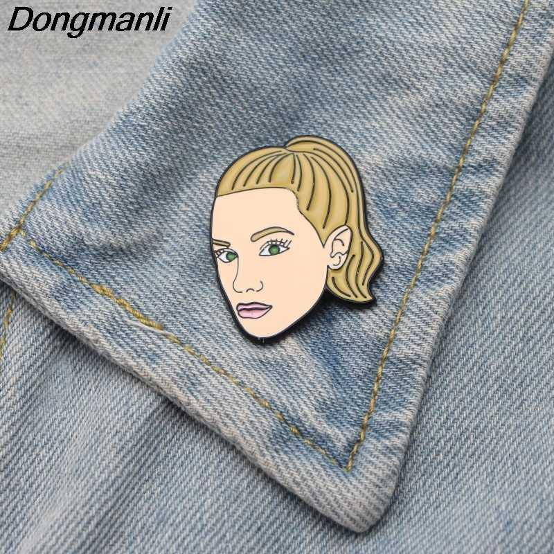 L2600 Riverdale Gambar Seni Pin Enamel Bros untuk Wanita Kerah Pin Kartun Logam Lencana Kerah Perhiasan Hadiah 1 Pcs