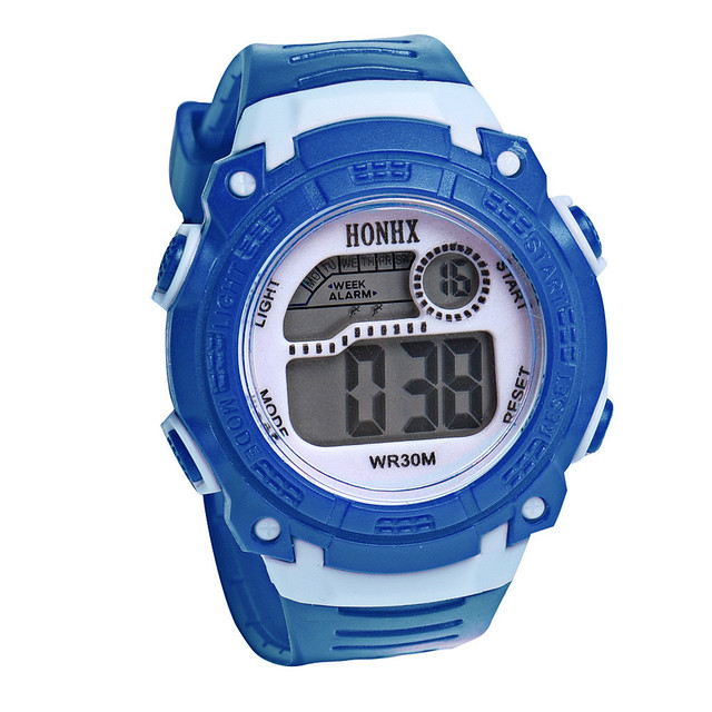 2018 Fashion Waterproof Children Kids Boy Watches Digital LED Quartz Alarm Date