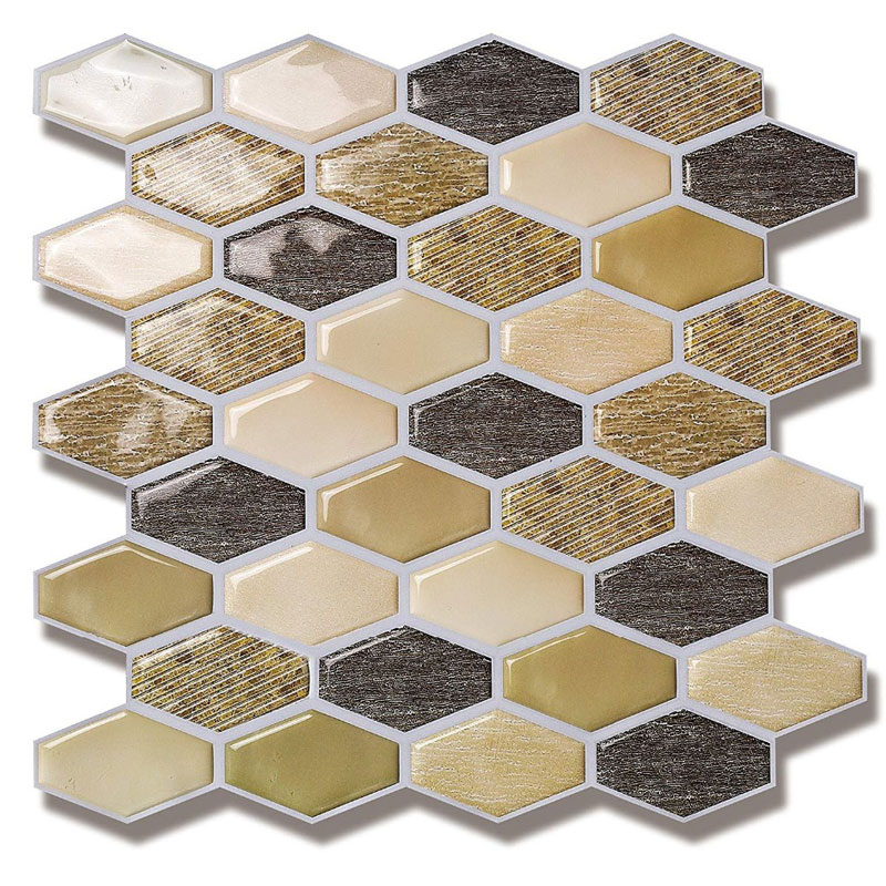 2019 New Trend 10 Pcs/Pack Vinyl Self Adhesive 3d Mosaic Wall Kitchen Bathroom Tile Backsplash Waterproof And Removable Tile