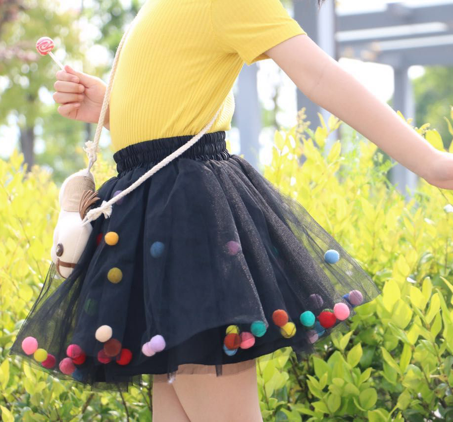 2018 Summer Baby Multilayer Tulle Tutu Skirt Colorful Pom Pom - Ropa de bebé - foto 6