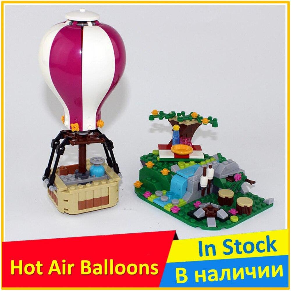 цена на Hot Air Balloon 41097 Building Blocks Model Toys For Children BELA 10546 Compatible legoed Friends Bricks Figure Set