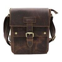 Brand New Genuine Leather Men S Shoulder Messenger Bag Casual Travel Business OL Packs 10 Tablet