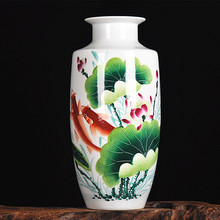 Jingdezhen ceramics famous hand-painted vases of modern style living room decoration year after year