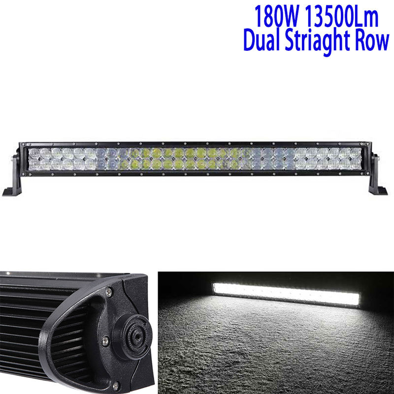 32Inch 180W 5D Led Driving Light Bar Led Work Light Bar Straight Roof Offroad Truck Suv Atv Utv Boat 4wd 6000k White Combo 12v bbb