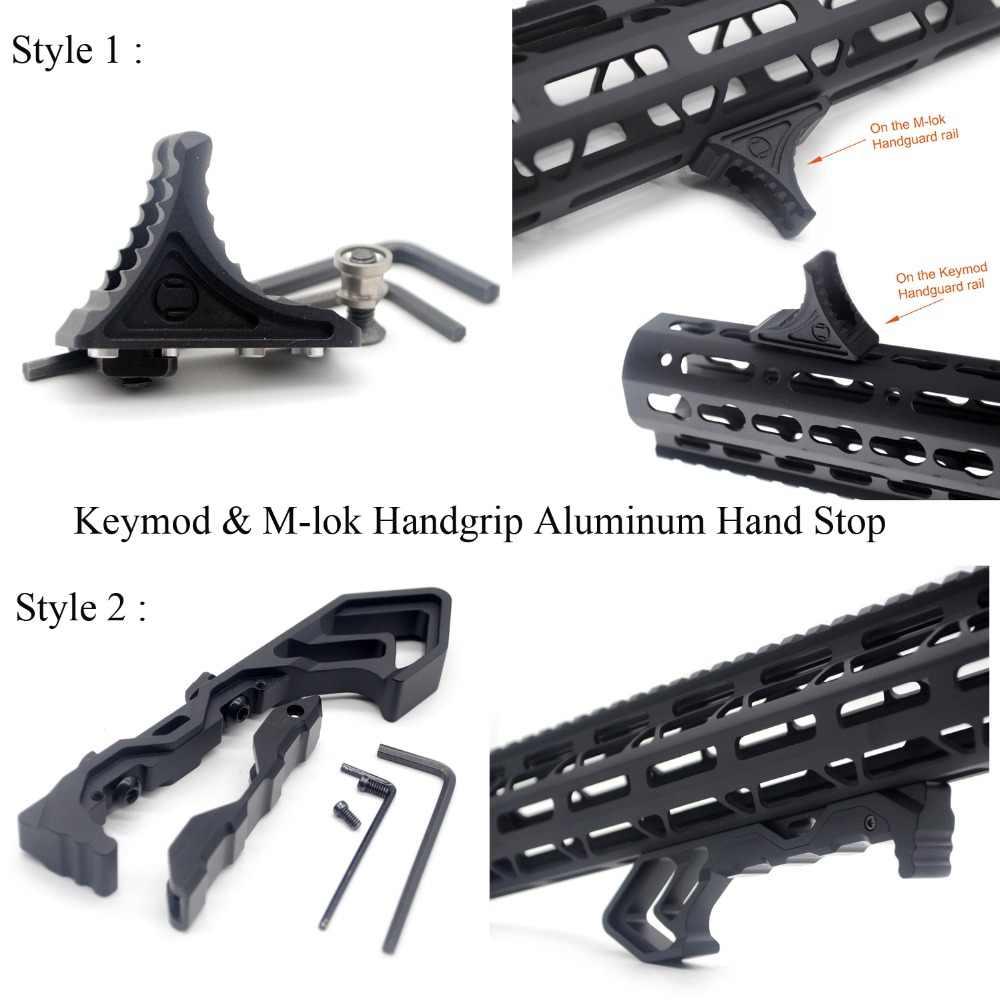 Mlok Keymod Picatinny Rail Section,Aluminum Attachment Accessories,Bi-Directional Stop fit M-Lok Key Mod System