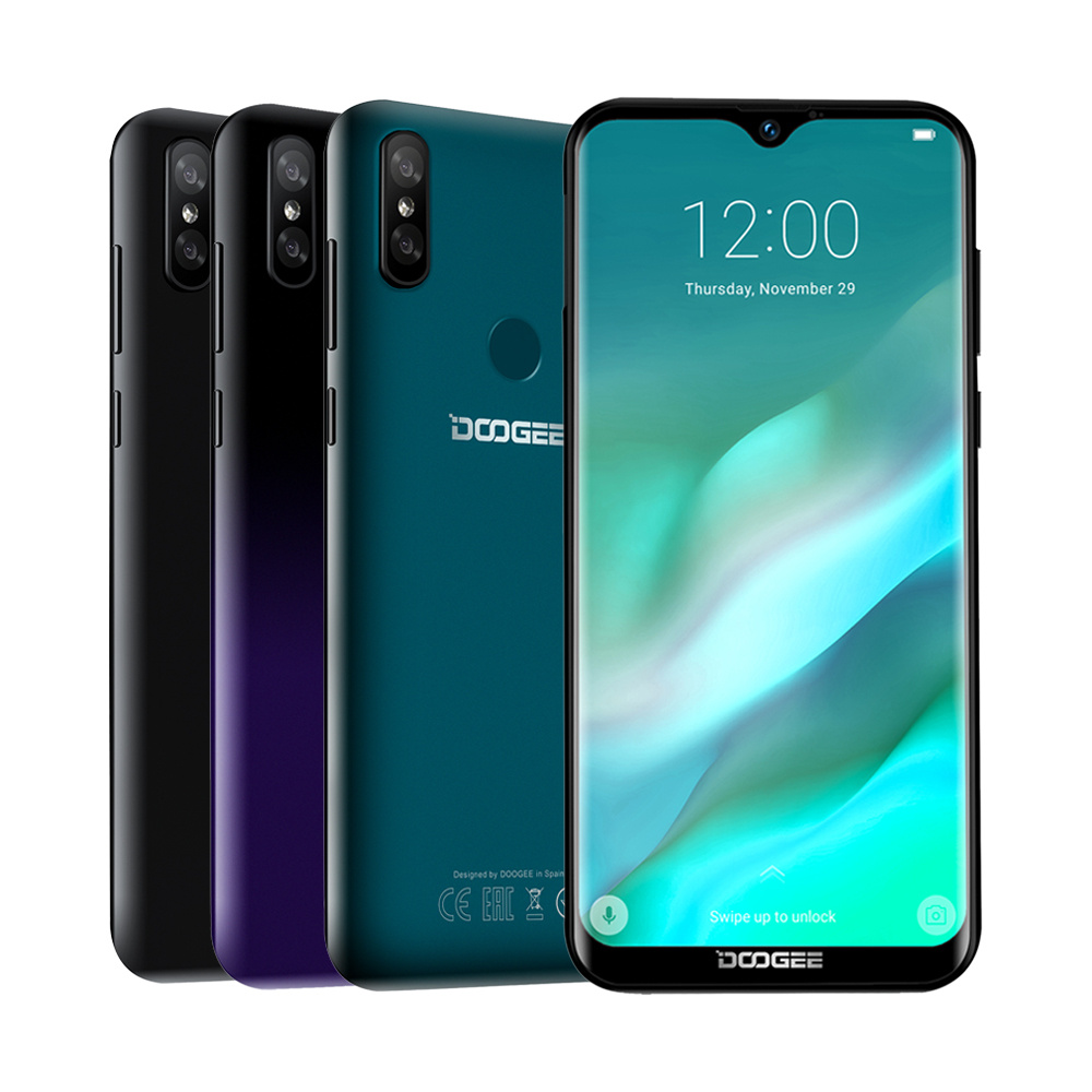 DOOGEE Y8 8MP 6.1inch 19:9 Waterdrop LTPS Screen Android 9.0 FDD LTE Smartphone 3GB RAM 16GB ROM 3400mah Dual SIM Mobile Phone