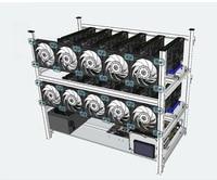 14 gpu Mining Rig stackable rack case Frame BTC miner Aluminium housing Server Chassis for ETH XMR GTX 10801060 RX 470 580 P106
