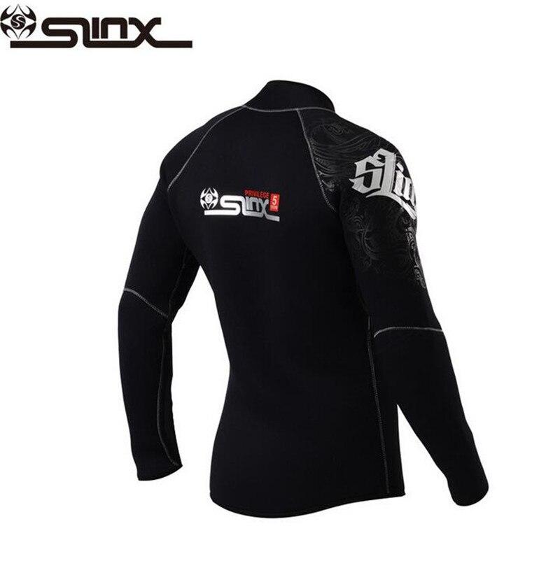 SLINX 5mm Neoprene Dive Jacket Wetsuit For Women Men Surfing Windsurfing Swimwear Waterski Water Craft Boating