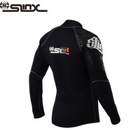 SLINX 5mm Neoprene Men Scuba Diving Swimsuit Boating Fleece Lining Warm Jacket Wetsuit Surfing Windsurfing Swimwear