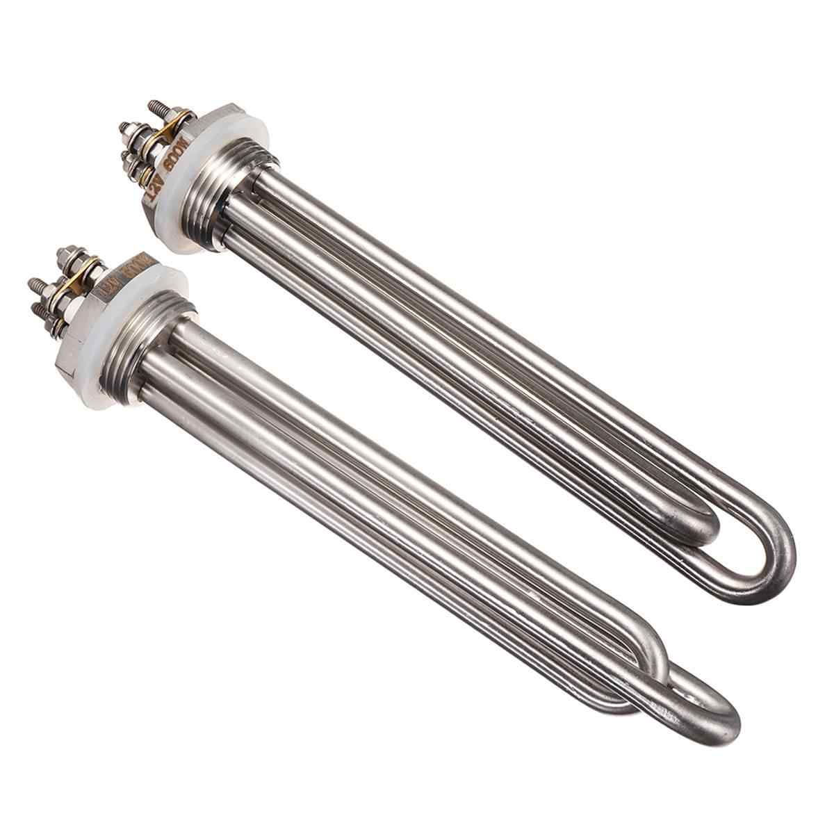12v 600w Electric Heater Stainless Steel Water Heating Element 1 Inch BSP NPT Immersion Heater Boiler Water Heater