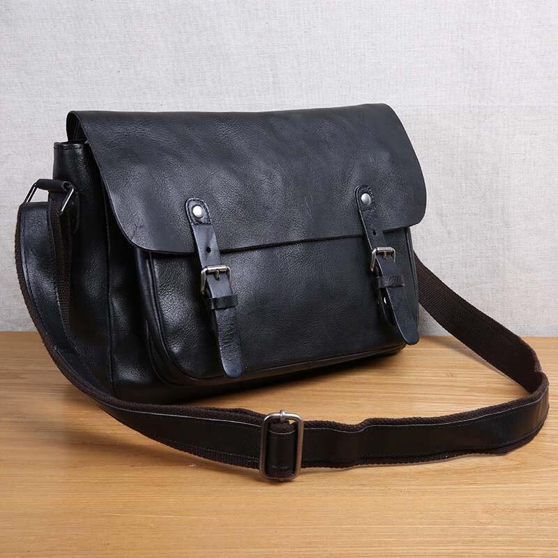 Aetoo ручной работы кожаная мужская сумка ретро сумка Начальник слой кожи Повседневная мужская сумка