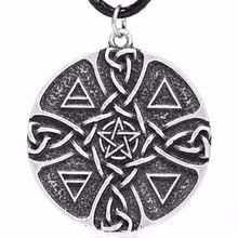 Ожерелье с пентаклем элементы кулон земля огонь вода воздух