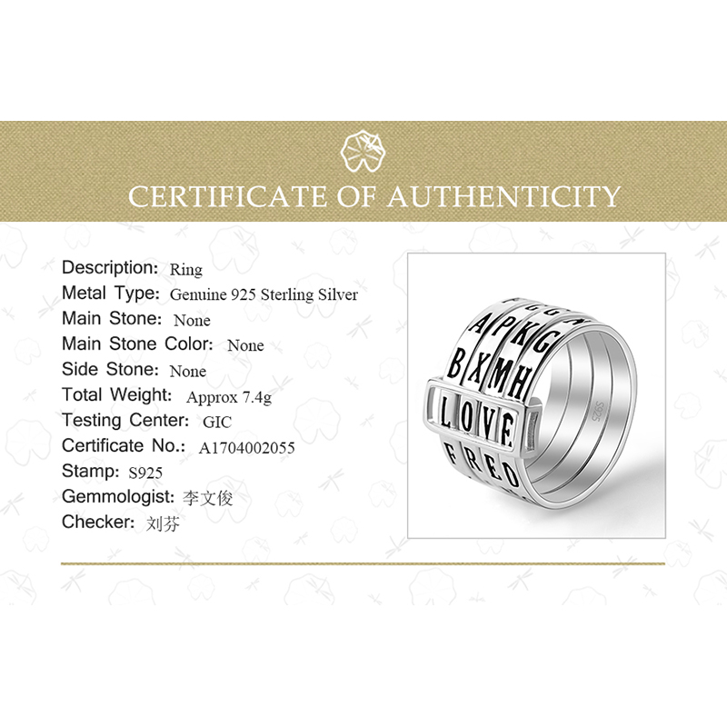 Image 5 - Lotus Fun Real 925 Sterling Silver Natural Handmade Fine Jewelry  Rotatable Ring Can Make Different Words Rings for Women Bijouxring  forrings for womenring ring