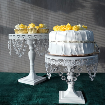 SWEETGO snow crystal cake stand for fondant backing tools for wedding party event dessert plate lace edge cakepops sweet table