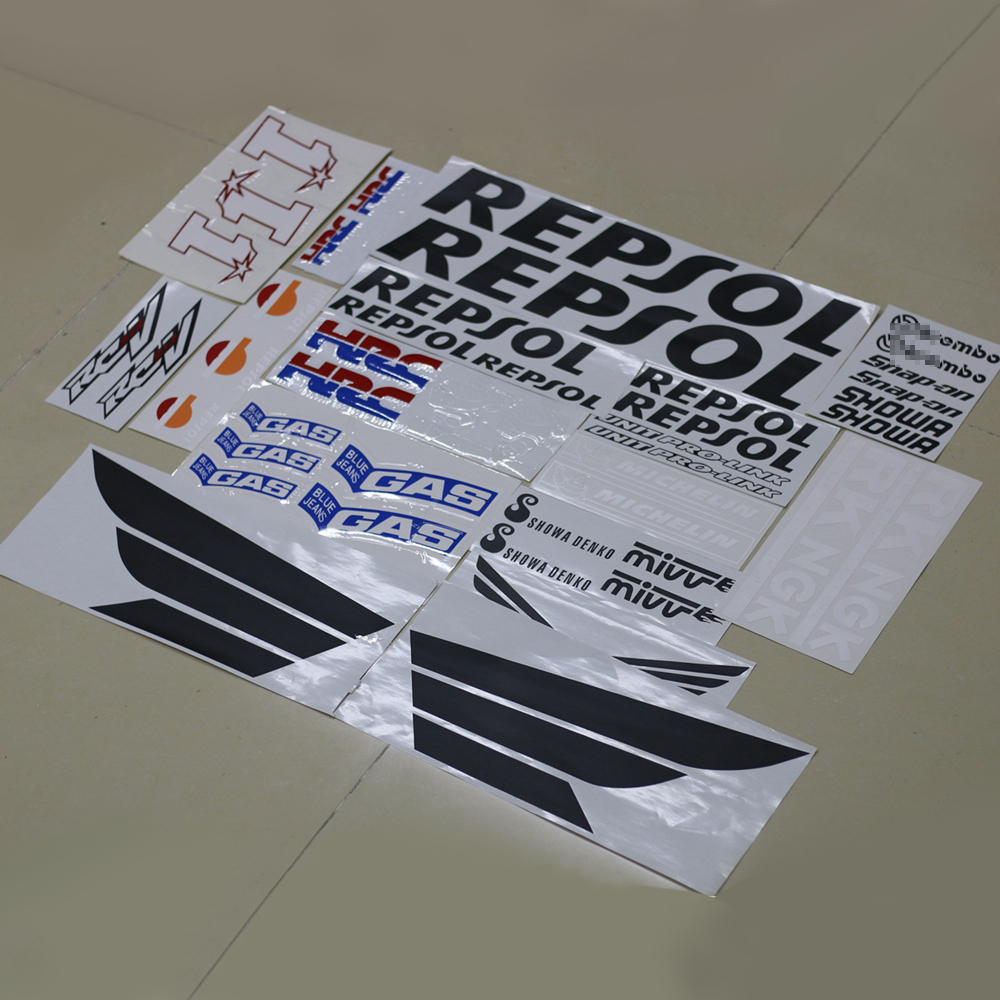 Motorcycle Fairing Kit Decals Sticker For HONDA REPSOL RCV CBR 600 1000 RR VTR HRC Complete Stickers Decal AccessoryMotorcycle Fairing Kit Decals Sticker For HONDA REPSOL RCV CBR 600 1000 RR VTR HRC Complete Stickers Decal Accessory